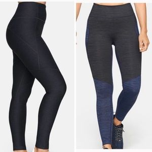 Outdoor voices two tone & charcoal warmup leggings